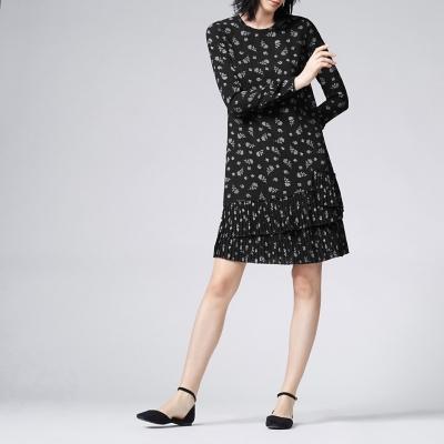 Vestido Estampado Manga Larga