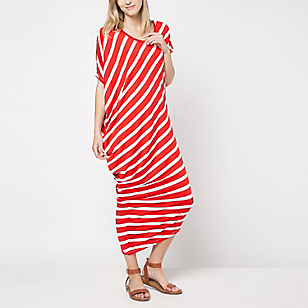 Vestido Asimétrico Rayas Diagonal