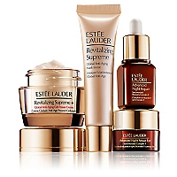Set Tratamiento Antiedad Supreme Suero Advanced Night Repair 7 ML + Crema para Rostro Antiedad Revitalizing Supreme 15 ML + Suero para Ojos Advanced Night Repair 5 ML + Mascarilla Antiedad Revitalizing Supreme 15 ML