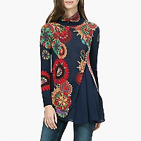 Sweater Cuello Alto Abertura Lateral