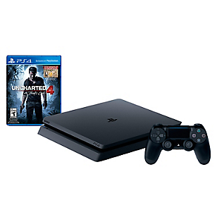 Consola PS4 Slim 500GB + Uncharted 4