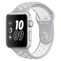 Watch Nike +  42 mm Silver/White