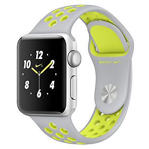 Watch Nike +  38 mm Silver/Volt