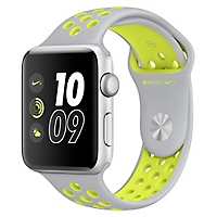 Watch Nike +  42 mm Silver/Volt