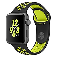 Watch Nike +  38 mm  Black/Volt