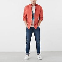Camisa Slim-Fit Textura Rayas