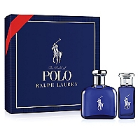 Set Cofre Polo Blue EDT 75 ML + Travel Spray 30 ML