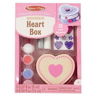 Caja de madera Corazón