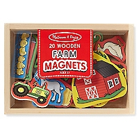 Activities Wooden Farm Magnets