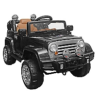 Jeep a Batería a Control Remoto Parental Negra