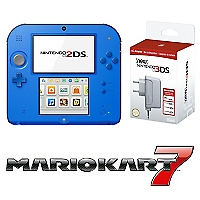 Consola 2DS Electric Blue Mario Kart 7 + Cargador