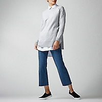 Sweater Liso Abertura Lateral