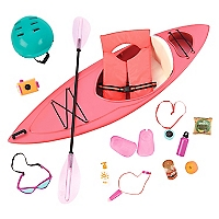Set de Accesorios para Muñecas Kayak Adventure