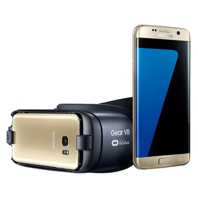Smartphone Galaxy S7 Edge Dorado Liberado + Lente de Realidad Virtual New Gear VR
