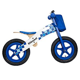 Bicicleta de Madera Azul