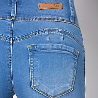Jeans Mujer Liso Ajustado