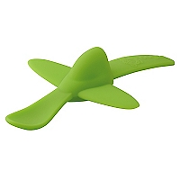 Cuchara Silicona Avión Verde