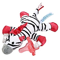 Peluche Sujeta-Chupetes Zebra