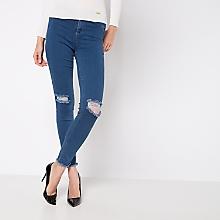 Jeans Liso Rasgados
