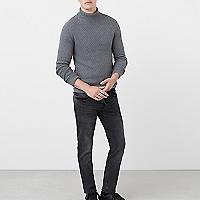 Jeans Tim slim-fit grises