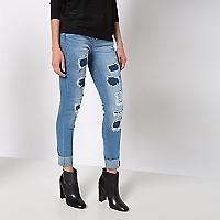 Jeans Parches Ajustado