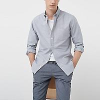 Camisa Slim Fit Oxford