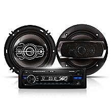 Radio para Auto + Parlantes 16 cm ELK-617