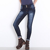 Jeans Liso Botones