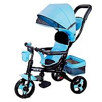Triciclo 4 Funciones en 1 Azul