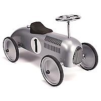 Auto de Carrera Retro Plateado