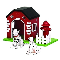 Figura Dogs In House Hydrant