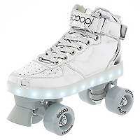 Patines con Luces LED Plateado