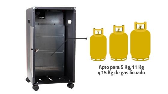Capacidad estufa cilindro gas
