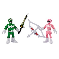 Figura Power Ranger Verde y Rosada
