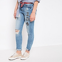 Jeans Bordado Números