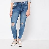 Jeans Rasgados en Rodilla