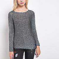 Sweater Liso Cuello Amplio