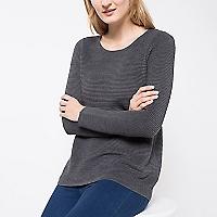 Sweater con Textura Canalé Horizontal