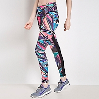 Legging Tropical Glitch Negro