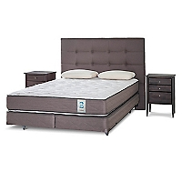 Box Spring New Style 2 King BD + 2 Almohadas + Muebles Issey