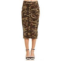 Falda Militar Rasgada