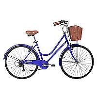 Bicicleta Aro 26 City Morada