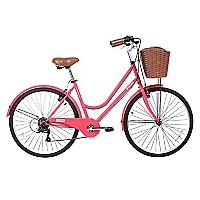 Bicicleta Aro 26 City Coral