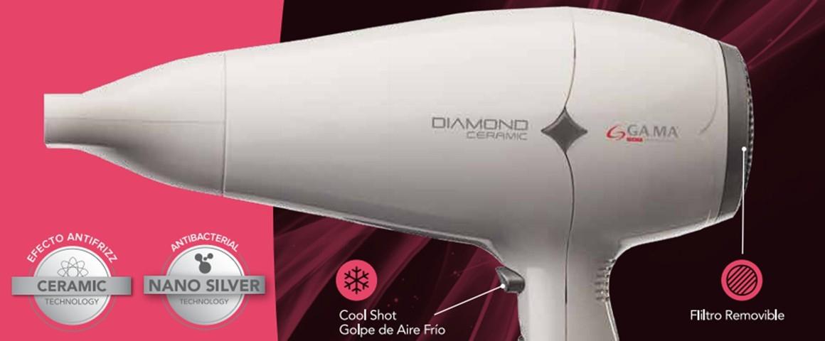 secador de pelo, secador gama, diamond, anti-frizz, secador.