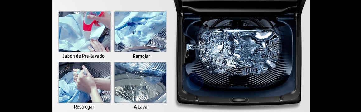 Lavadora Carga Superior Black Edition con Activ Dualwash
