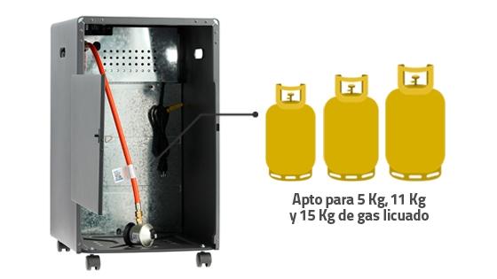 Capacidad estanque estufa gas