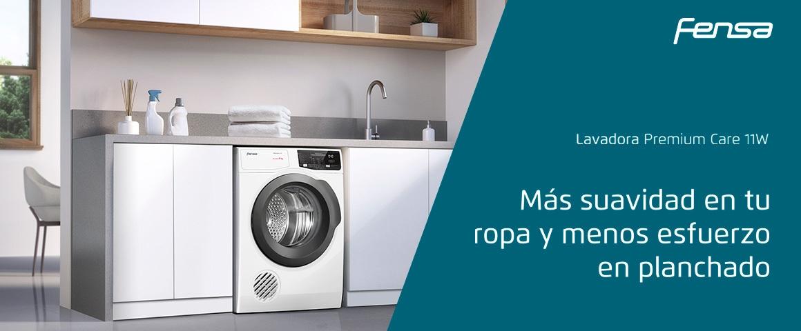 Más suavidad en tu ropa y menos esfuerzo en planchado con tu lavadora Premium Care 11W