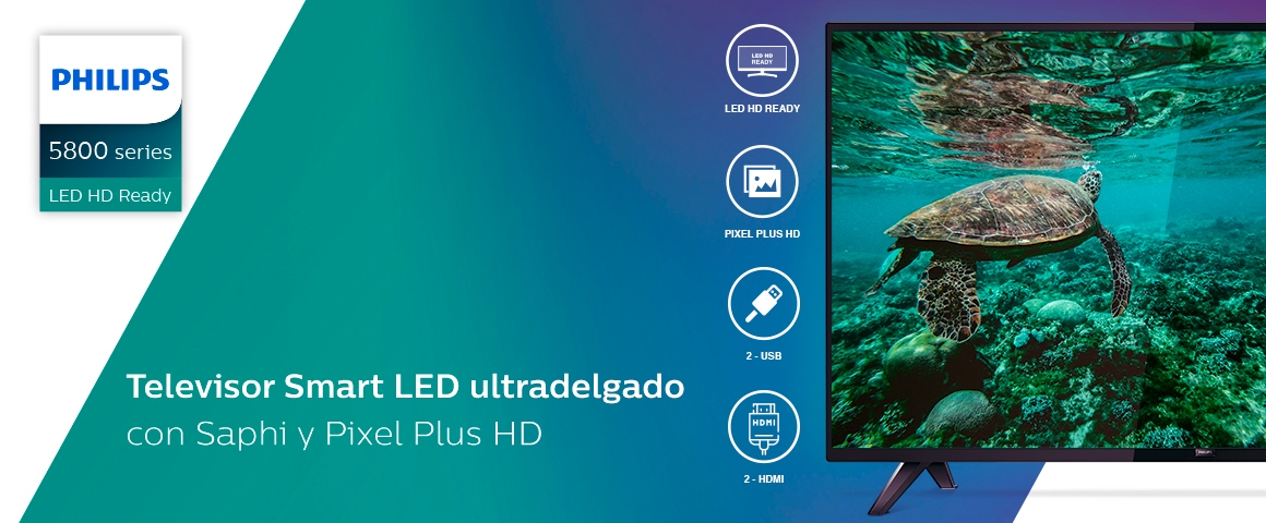 LED 32 pulgadas HD Smart tv Philips 32PHD5813 Ultradelgado