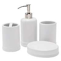 Set 4 Piezas White Ceramic