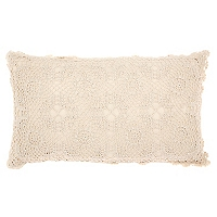 Cojín Redondo Crochet 45 cm